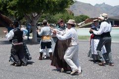 Danza tradicional, Tenerife, España Foto de archivo
