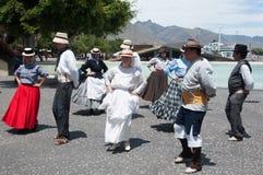 Danza tradicional, Tenerife, España Imagen de archivo libre de regalías