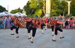 Danza turca del folclore Imagen de archivo libre de regalías