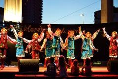 Danza ucraniana de las muchachas Foto de archivo