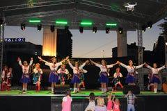 Danza ucraniana de las muchachas Imagen de archivo libre de regalías