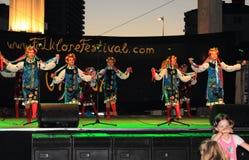 Danza ucraniana de las muchachas Fotografía de archivo libre de regalías