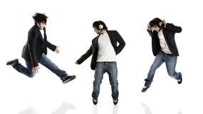 Danza y salto Foto de archivo libre de regalías
