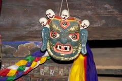 Danzas de la máscara, Bhután imagenes de archivo