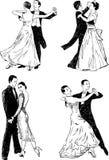 Danzas de salón de baile Fotografía de archivo libre de regalías