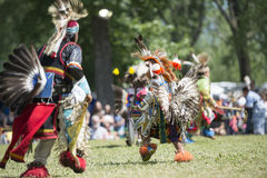 Danzas del nativo americano Fotografía de archivo