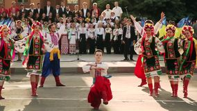 Danzas populares ucranianas folklore Gopak almacen de video