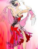 Danzatore illustrazione vettoriale
