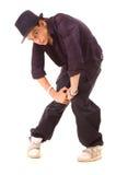 Danzatore alla moda di jazz in cappello Fotografia Stock