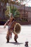 Danzatore azteco - ballo del fuoco Fotografia Stock Libera da Diritti