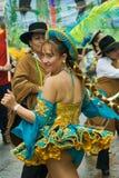 Danzatore boliviano tradizionale immagini stock libere da diritti