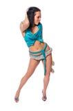 Danzatore caldo su priorità bassa bianca Immagine Stock