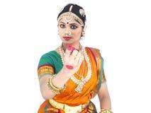 Danzatore classico femminile dall'India Fotografia Stock Libera da Diritti