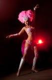 Danzatore del cabaret Fotografie Stock Libere da Diritti
