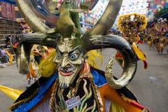 Danzatore del diavolo al carnevale di Oruro in Bolivia Fotografia Stock Libera da Diritti