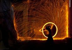 Danzatore del fuoco Immagine Stock