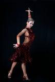 Danzatore del Latino della ragazza Fotografia Stock
