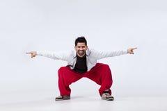 Danzatore del luppolo dell'anca Fotografie Stock