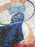 Danzatore del mosaico Immagini Stock