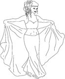 Danzatore della donna Immagini Stock Libere da Diritti