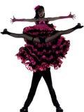 Danzatore della donna dell'uomo delle coppie che balla cancan francese Fotografia Stock