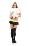 Danzatore della donna della ragazza pon pon Immagine Stock Libera da Diritti