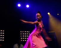 Danzatore della salsa Fotografie Stock Libere da Diritti