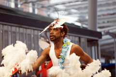 Danzatore delle isole dello stretto di Torres Fotografia Stock