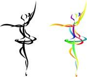 Danzatore di balletto astratto Fotografia Stock Libera da Diritti