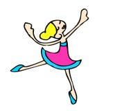 Danzatore di balletto, ballerina Fotografie Stock Libere da Diritti