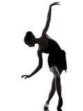 Danzatore di balletto della ballerina della giovane donna Fotografia Stock