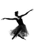 Danzatore di balletto della donna Fotografia Stock