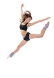 Danzatore di balletto della donna di stile contemporaneo di jazz moderno Fotografie Stock Libere da Diritti