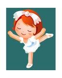 Danzatore di balletto della ragazza illustrazione vettoriale