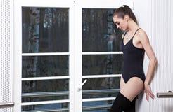 Danzatore di balletto moderno attraente Fotografie Stock Libere da Diritti