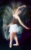 Danzatore di balletto nel movimento Fotografia Stock Libera da Diritti