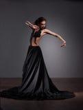 Danzatore di flamenco in bello vestito Immagini Stock Libere da Diritti