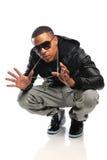 Danzatore di Hip Hop dell'afroamericano Immagine Stock