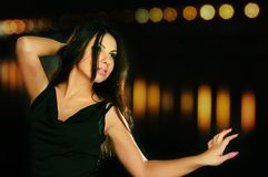 Danzatore di notte fotografie stock