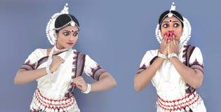 Danzatore di Odissi dell'origine indiana immagini stock libere da diritti