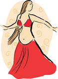 Danzatore di pancia illustrazione di stock