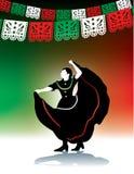Danzatore di piega messicano Fotografia Stock