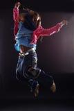 Danzatore di salto della donna Fotografia Stock Libera da Diritti