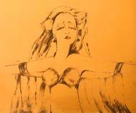 Danzatore esotico illustrazione vettoriale