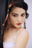 Danzatore ispanico di flamenco Fotografia Stock