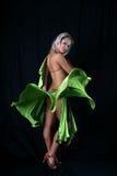 Danzatore latino biondo Fotografia Stock Libera da Diritti