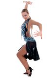 Danzatore latino biondo Immagini Stock