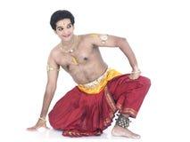 Danzatore maschio tradizionale indiano fotografie stock libere da diritti