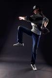 Danzatore moderno dell'uomo freddo Fotografia Stock