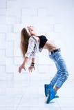 Danzatore moderno della donna Immagini Stock Libere da Diritti